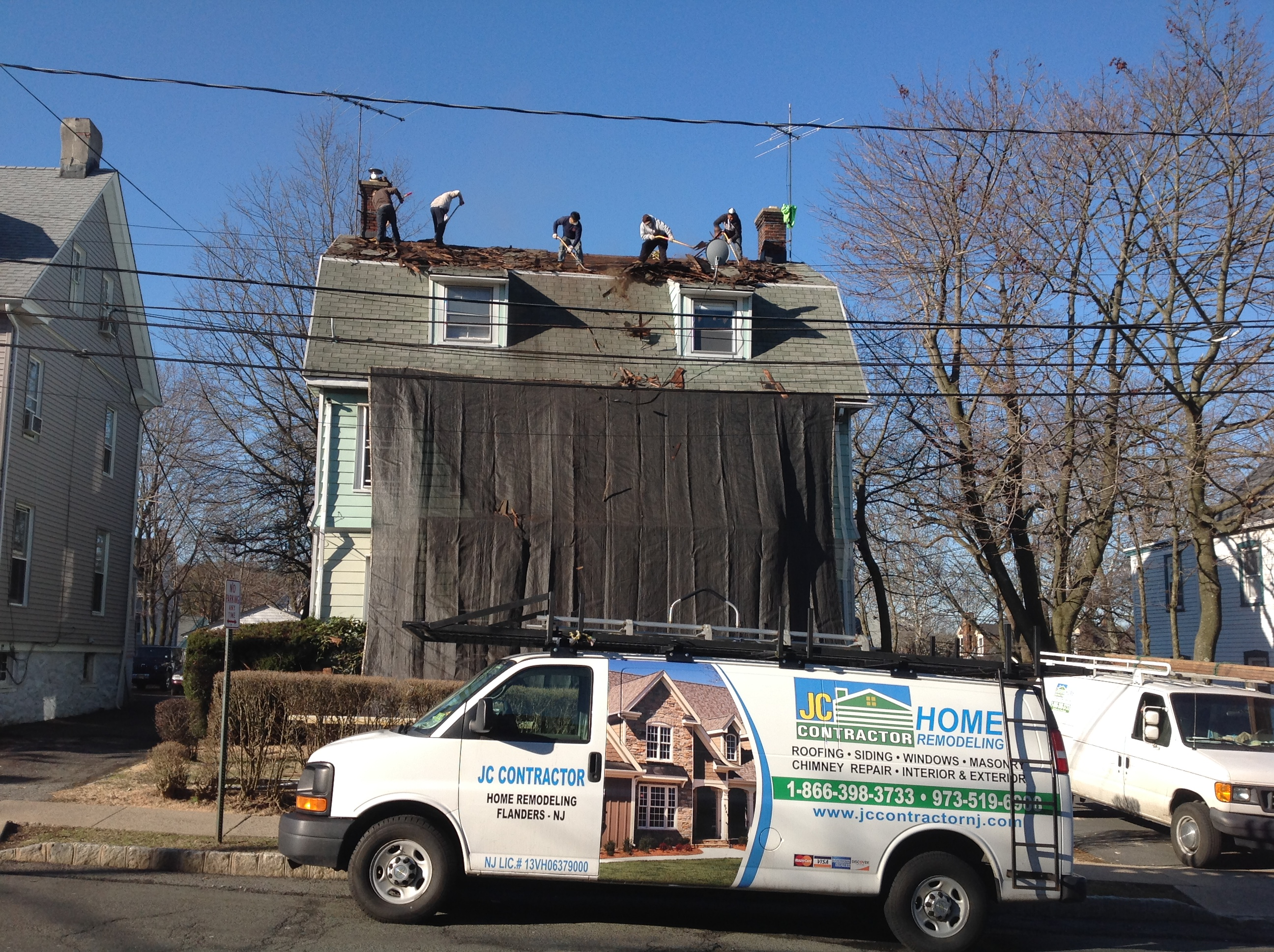 Residential Roofing Project, Irvington, NJRoofing
