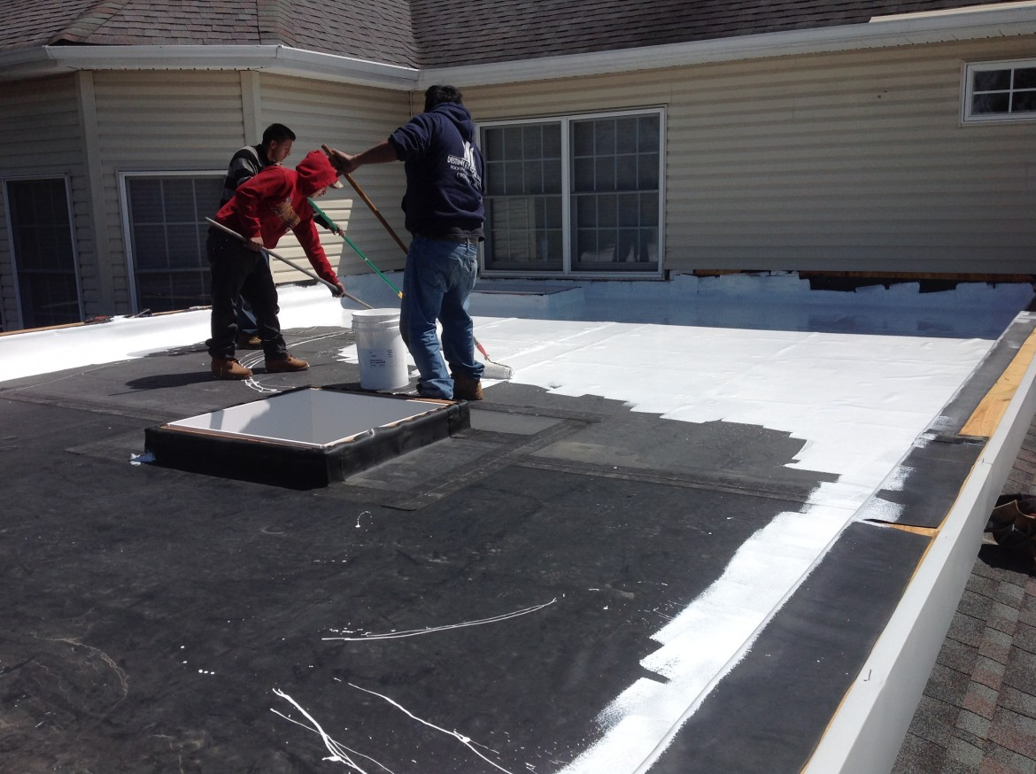 Flat Roof and Skylight Project, Monroe Township, NJ